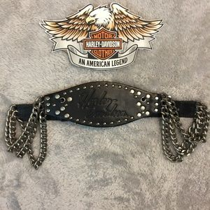 Harley Davidson Chain Leather Belt